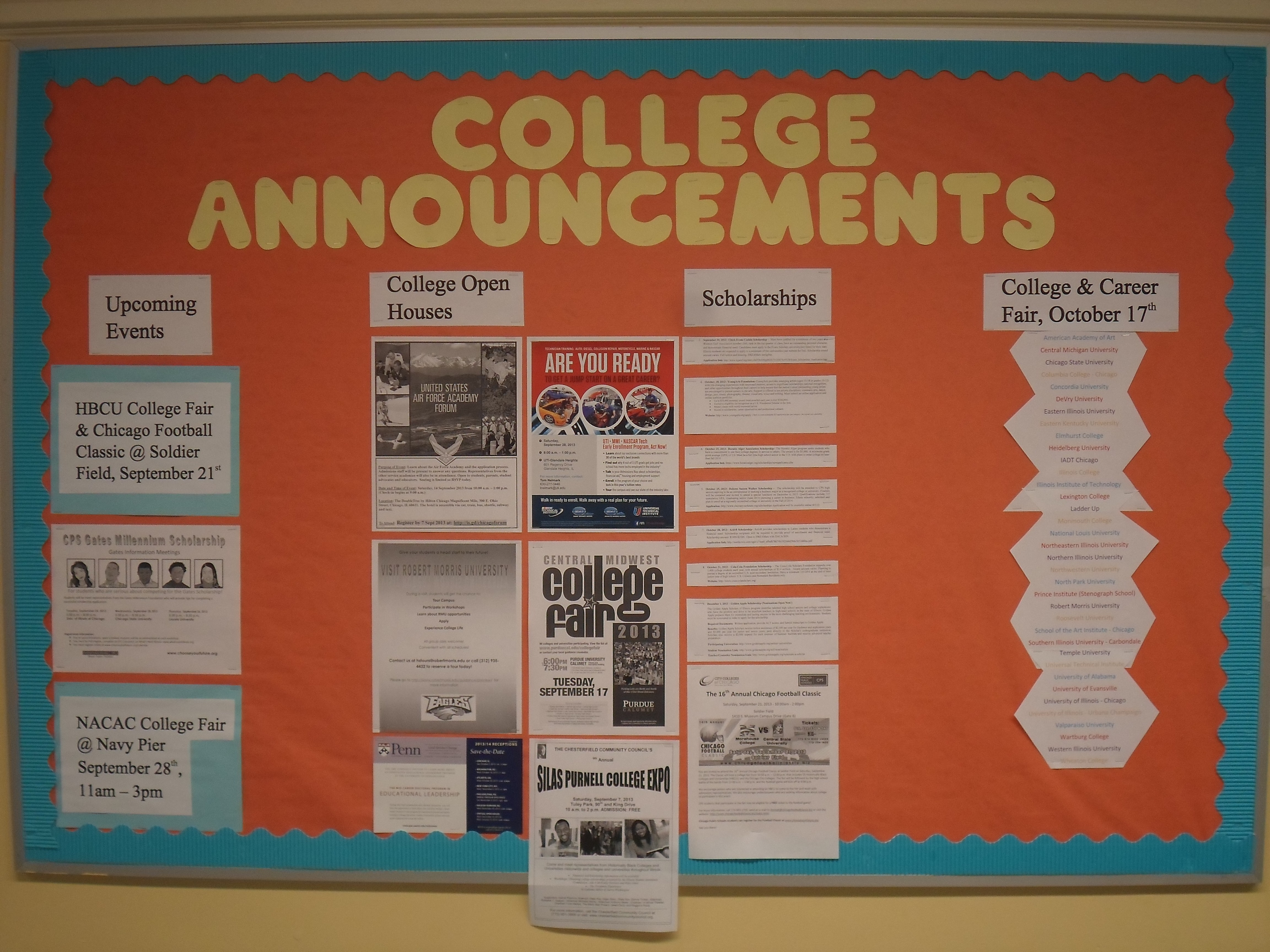 Counseling Department Bulletin Board