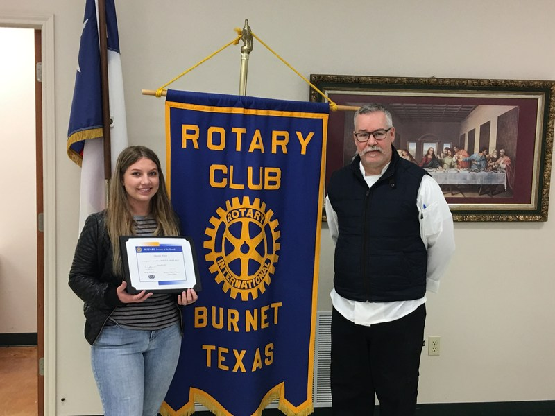 Cherish White Named Rotary Student of the Month ! Thumbnail Image