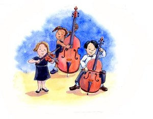 Youth orchestra clip art.