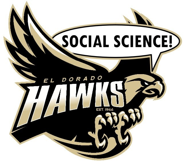 EDHS Logo with the Hawk shouting
