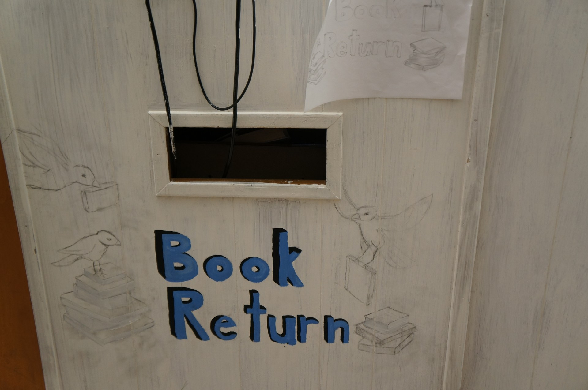 Mural of Book Return location.