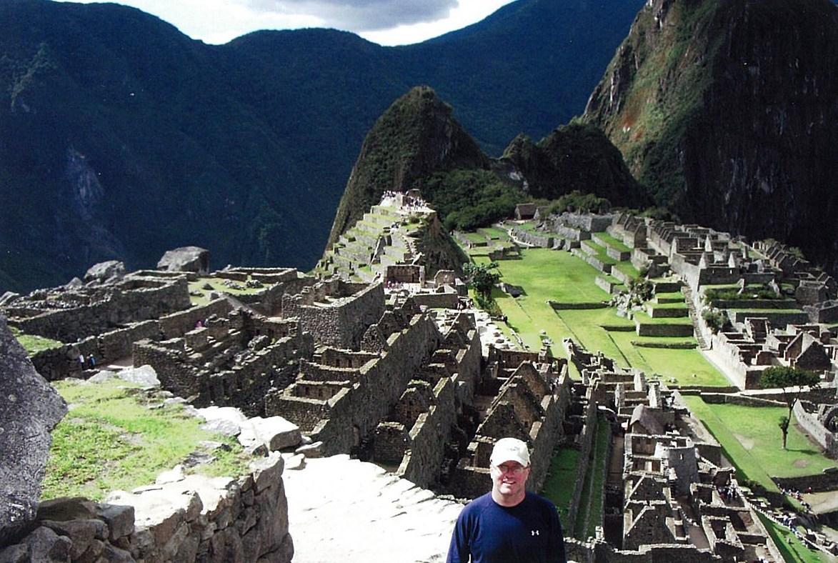 Arrival at Machu Picchu
