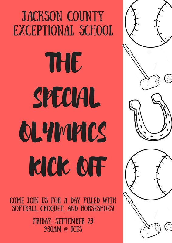 Special Olympics Kick Off Flyer