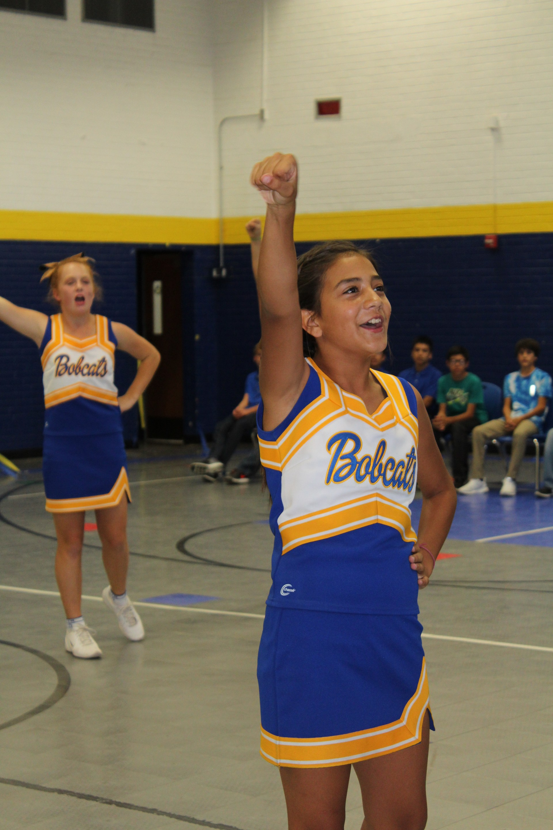 Jr. High Cheerleaders at Pep Rally
