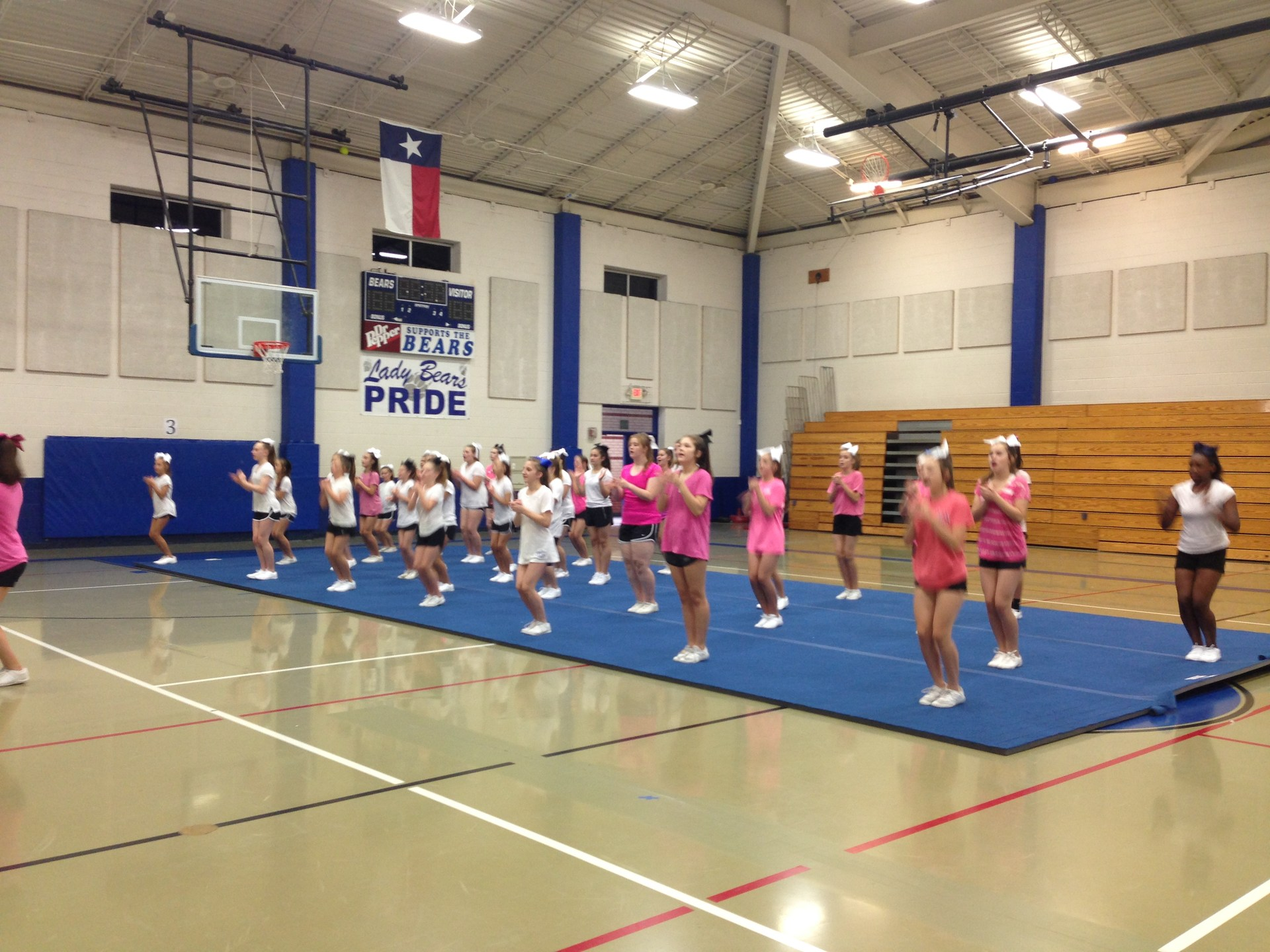 cheerleaders in gym