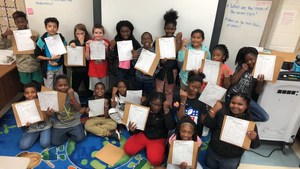 Fourth grade students in Mr. Vaughn's class at J.L. Lomax Elementary