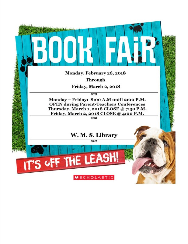 WMS Spring 2018 Book Fair is Coming! Thumbnail Image