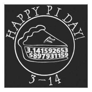 Happy Pi day Chalkboard pie square card
