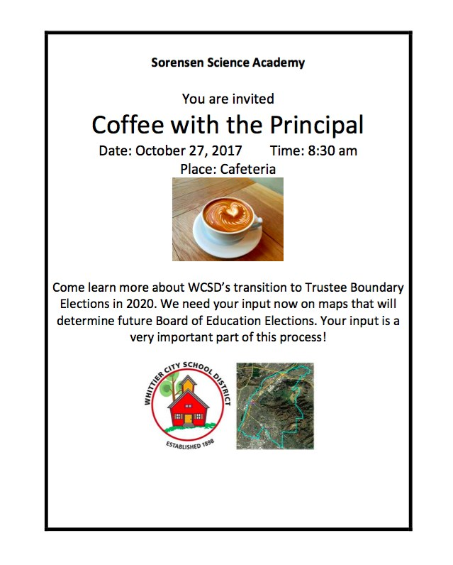 Coffee with the Principal Oct 27th @ 8:30am Featured Photo