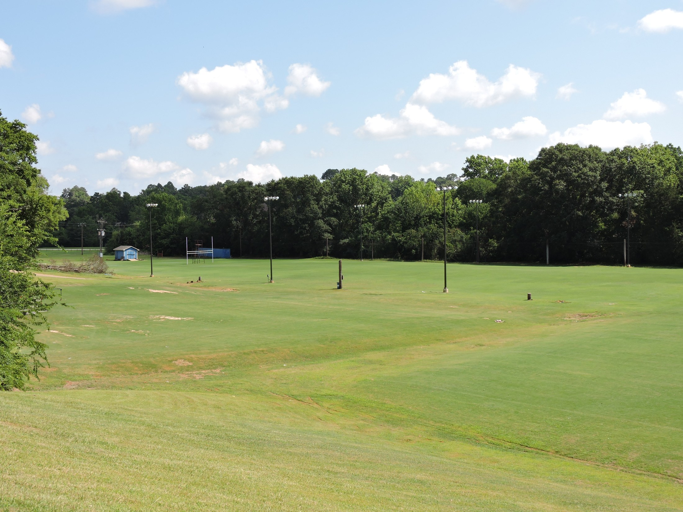 view of the practice field at JHS