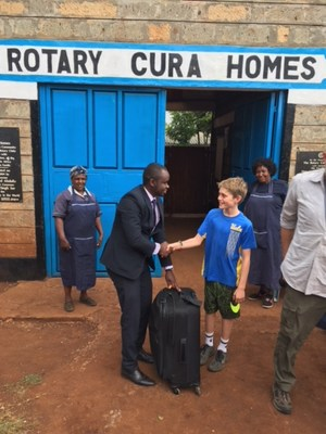 school supplies and soccer balls brought to kenyan orphanage
