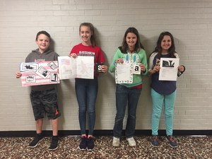 Winners of poster and writing contest.