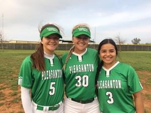 3 softball players