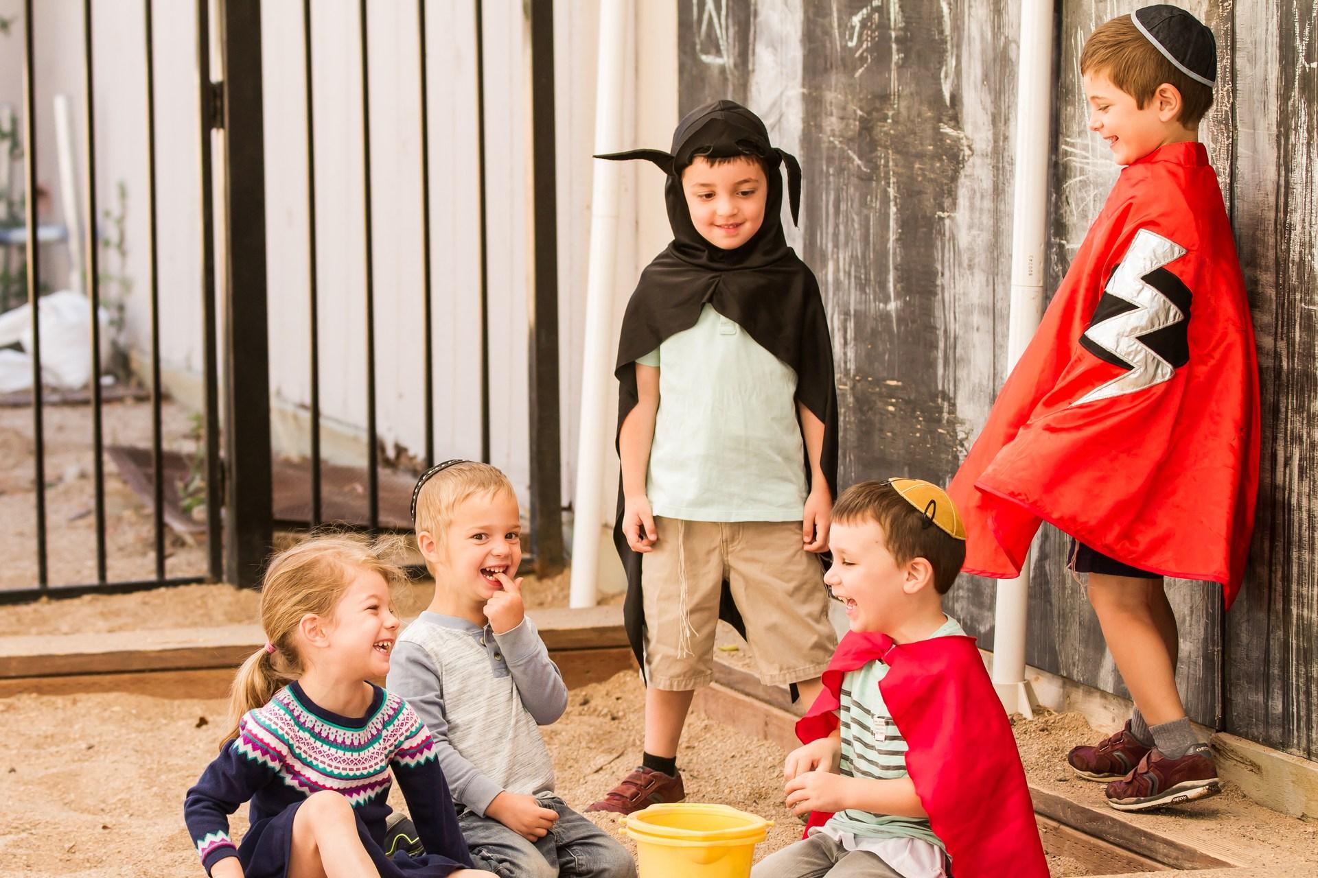 kids playing in the sandbox