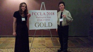 Kaylee Thompson & Calvin Ross FCCLA competition photo