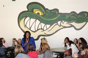 Ms. Patillo Speaking to Young Gators