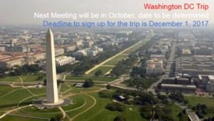 Washington DC Trip Information