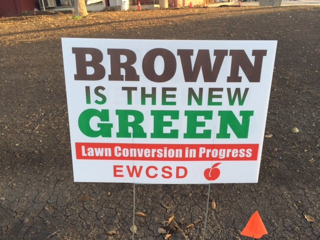 Brown is the new Green sign