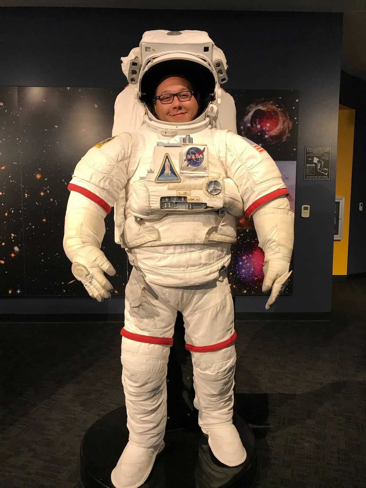 martin as an astronaut