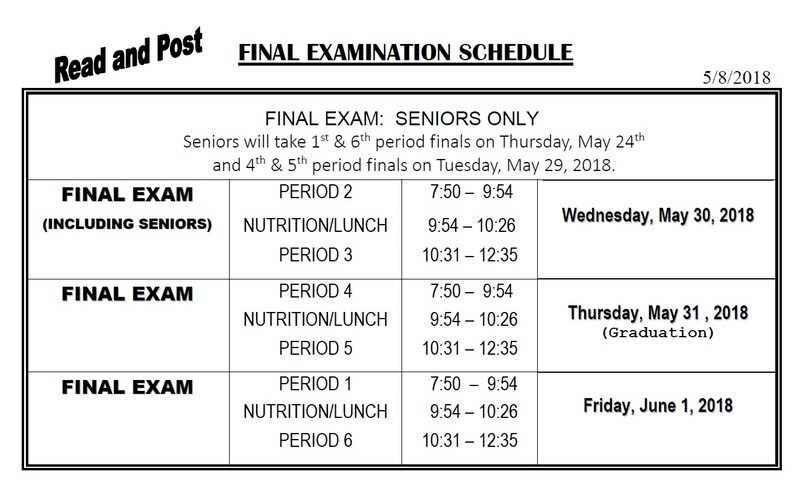 Semester 2 Final Exam Schedule Thumbnail Image