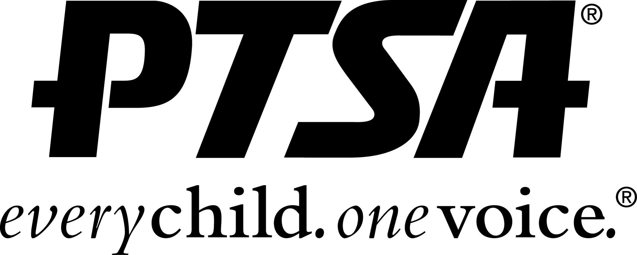 PTSA - One child. One voice. logo