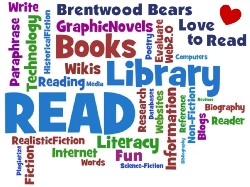 Brentwood Library Word Poster