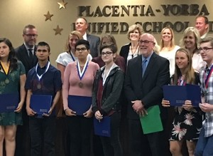LEHS Student honored by Board of Education