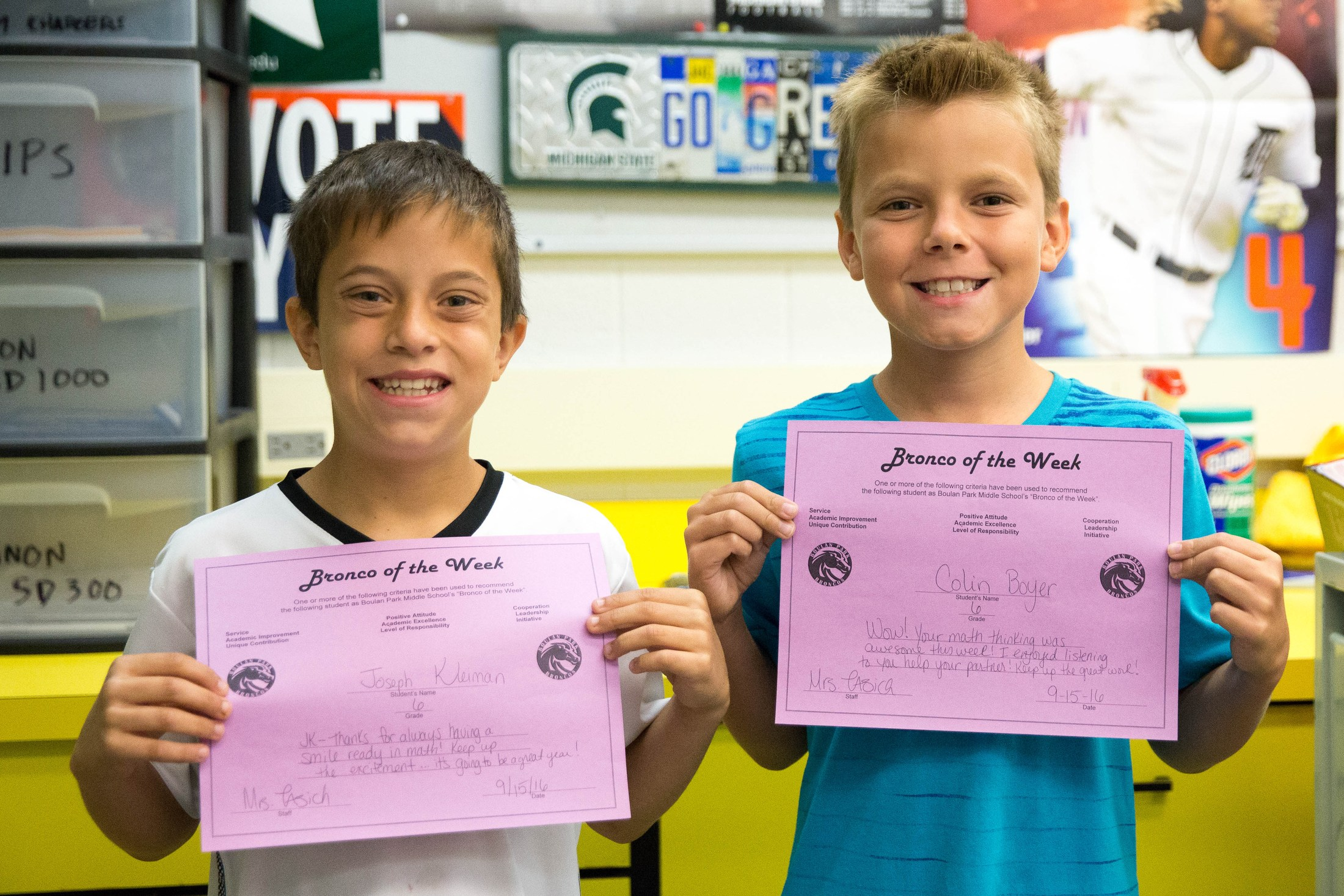 Bronco students of the week