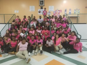 HRMS students on Pink Out Day