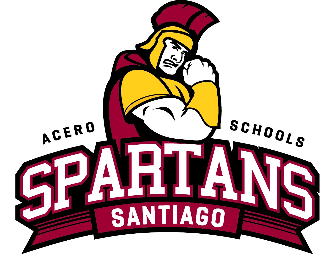 The school logo depicts a Spartan warrior standing behind the word Spartans.