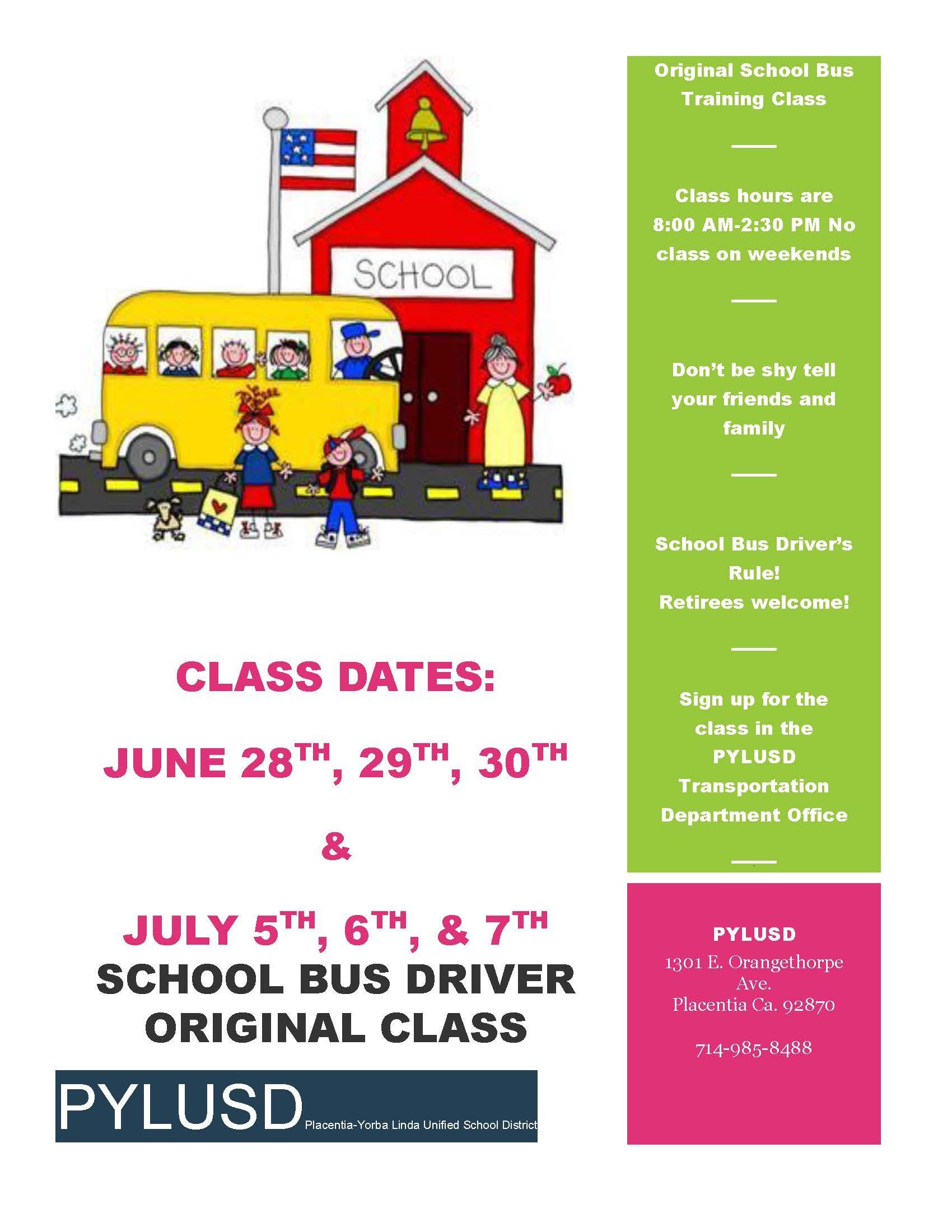 School Bus Driver Original Class Flyer