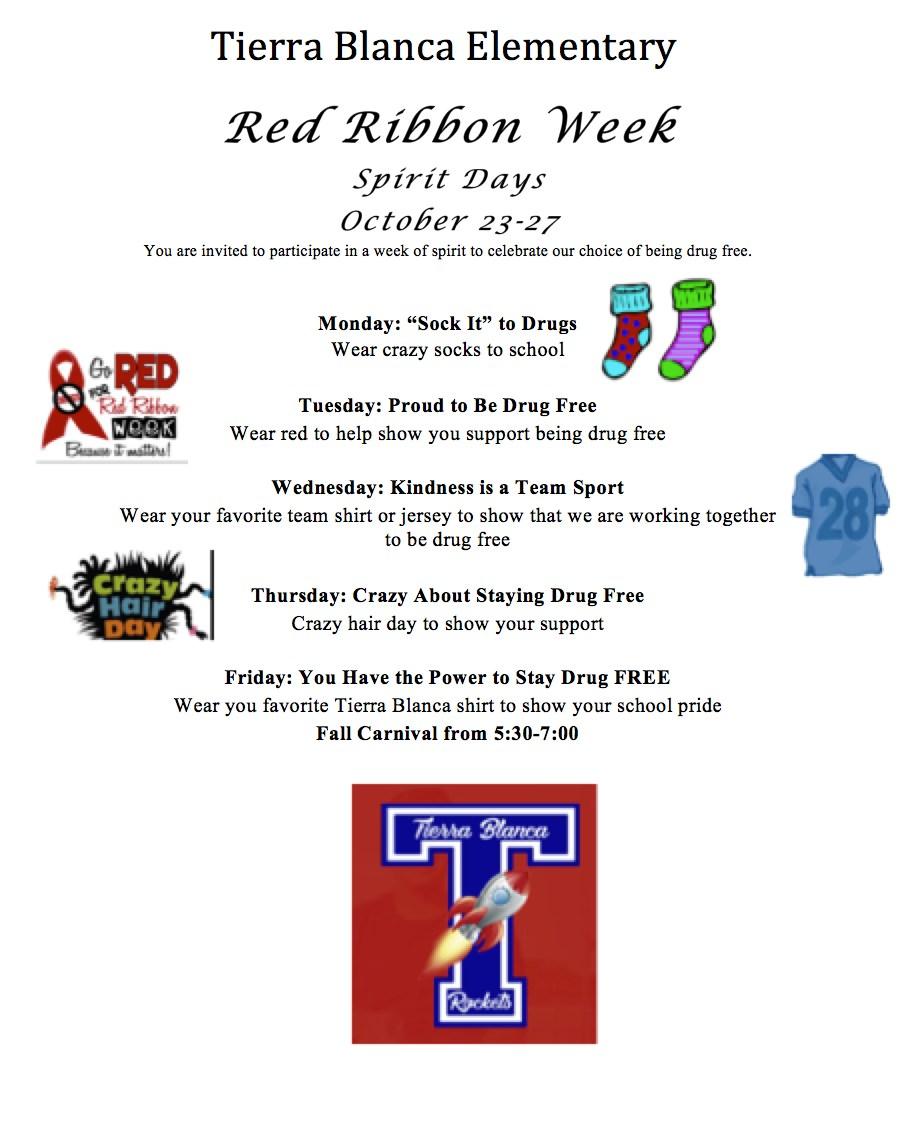 Red Ribbon Week Schedule