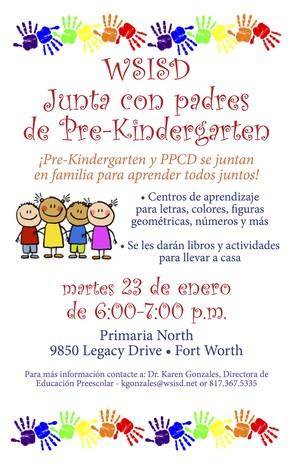 Early Childhood Family Night Spanish