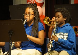 Kaci Williams and Kernell Narcisse on clarinets.