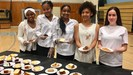South High School students serving desserts for the Black History luncheon event.