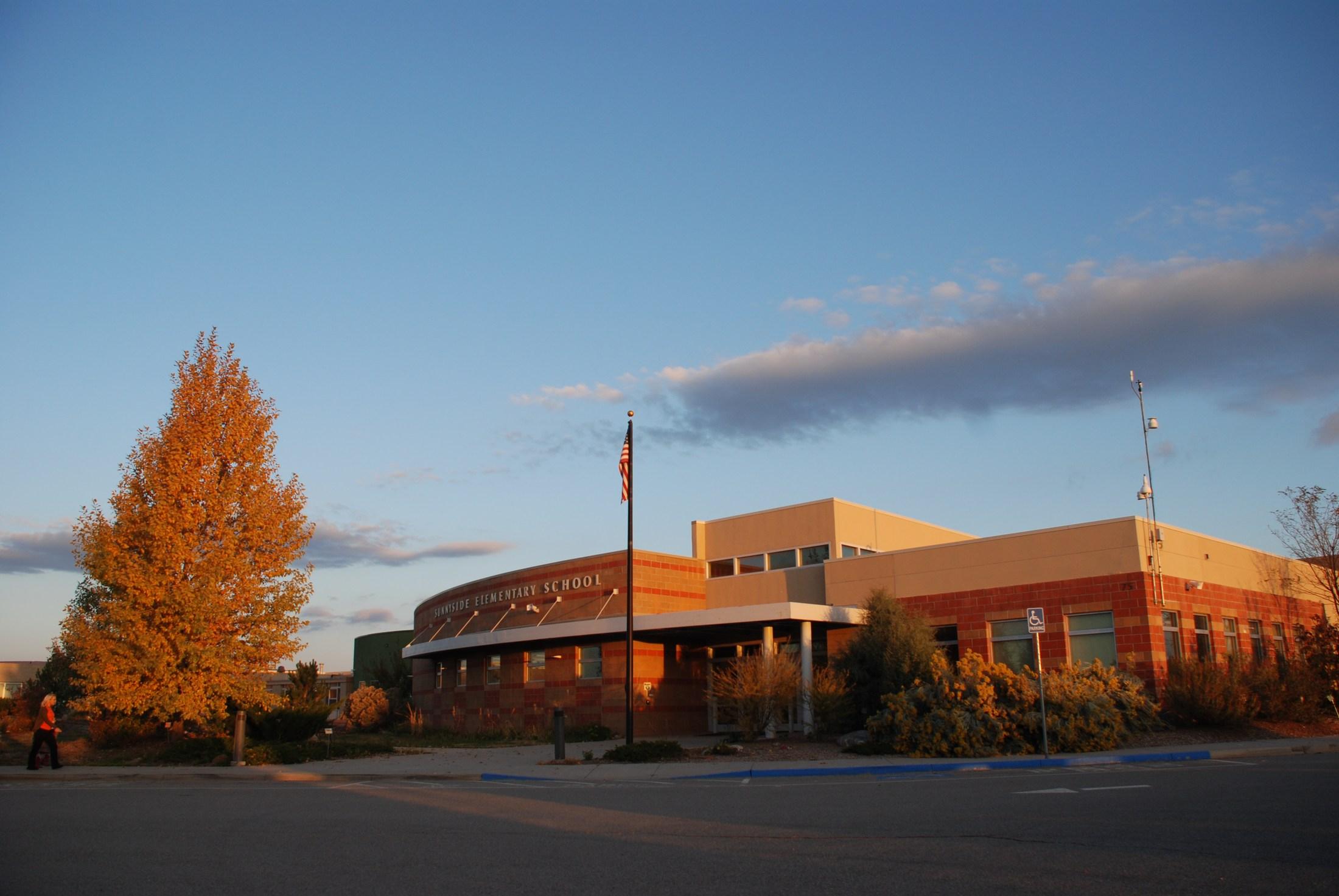 Front of Sunnyside Elementary.