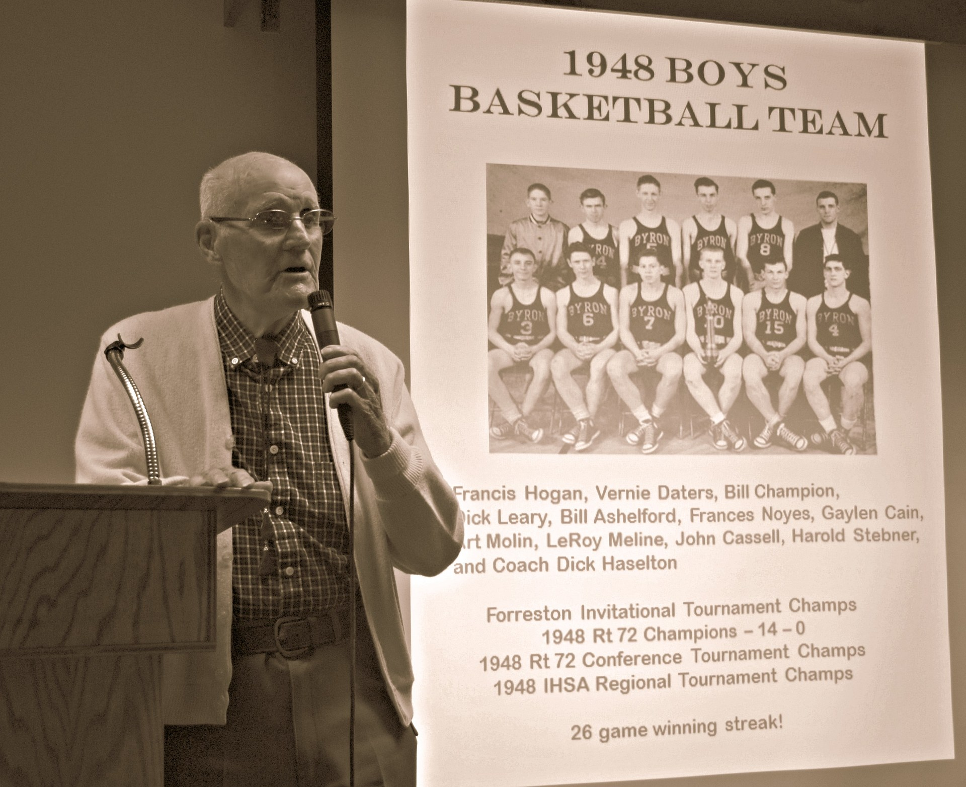 1948 Boys Basketball Team Coach