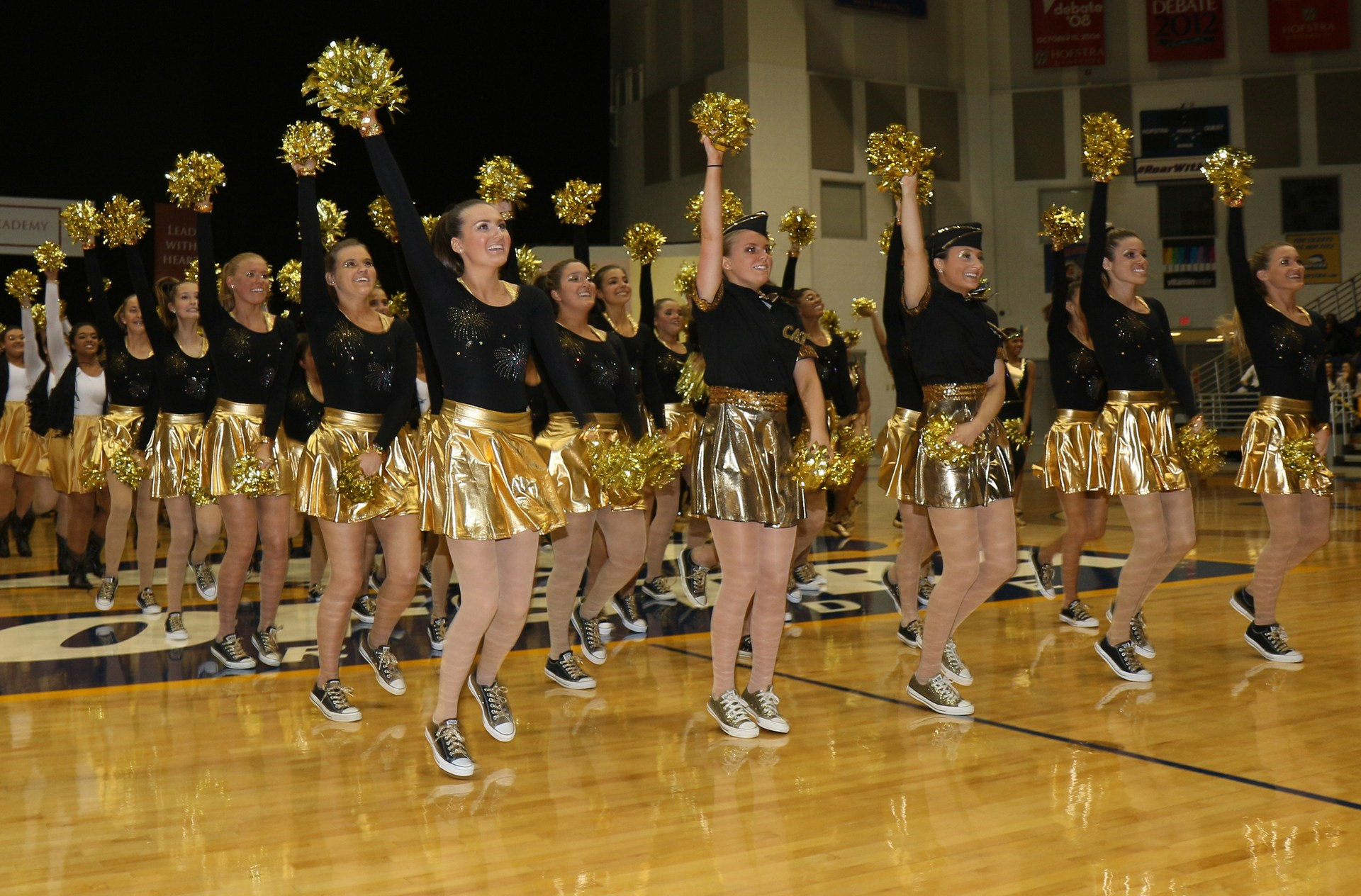 Gold Team Cheer performance