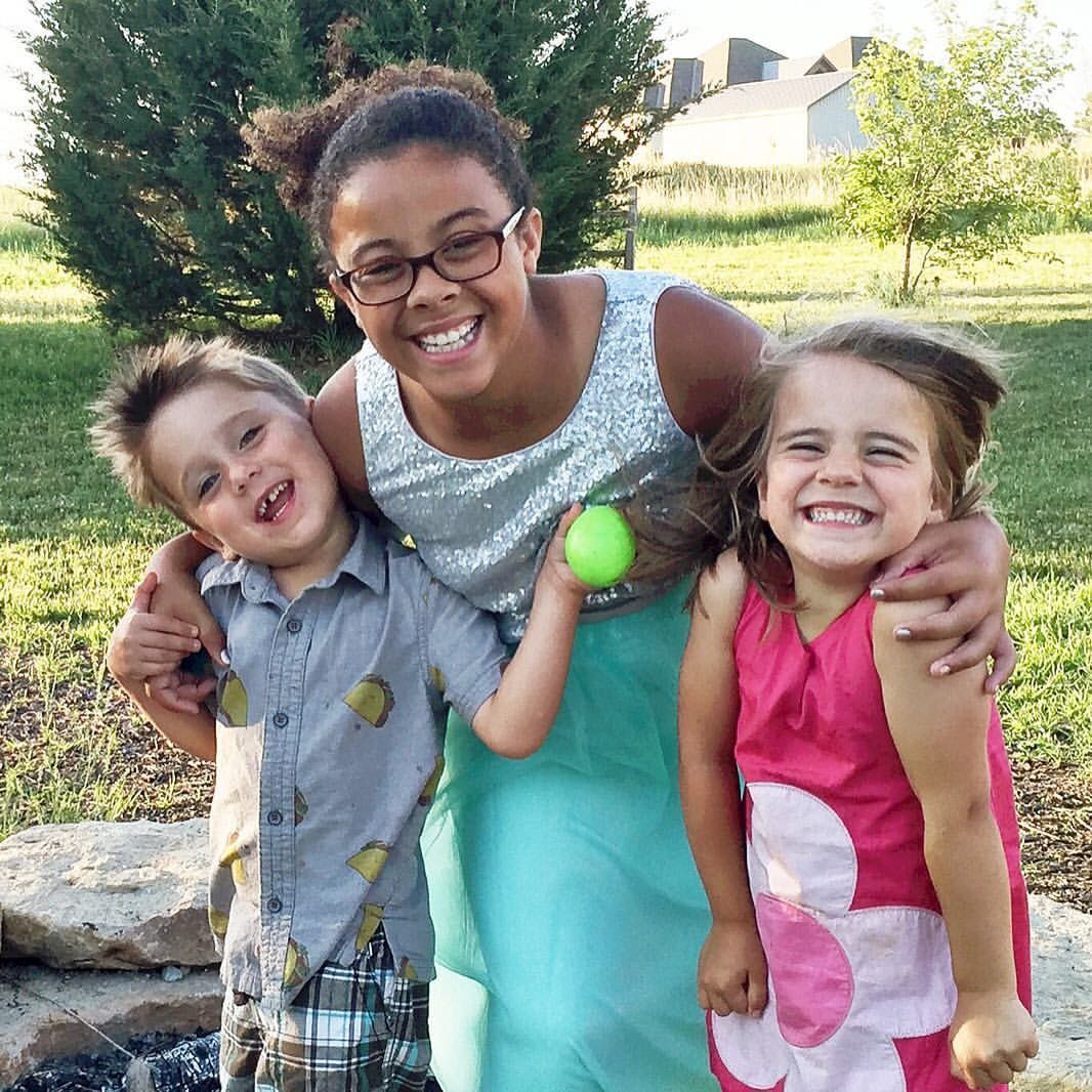 My nieces and nephew...Sam, Bria and Elsie
