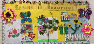 flower display created by students