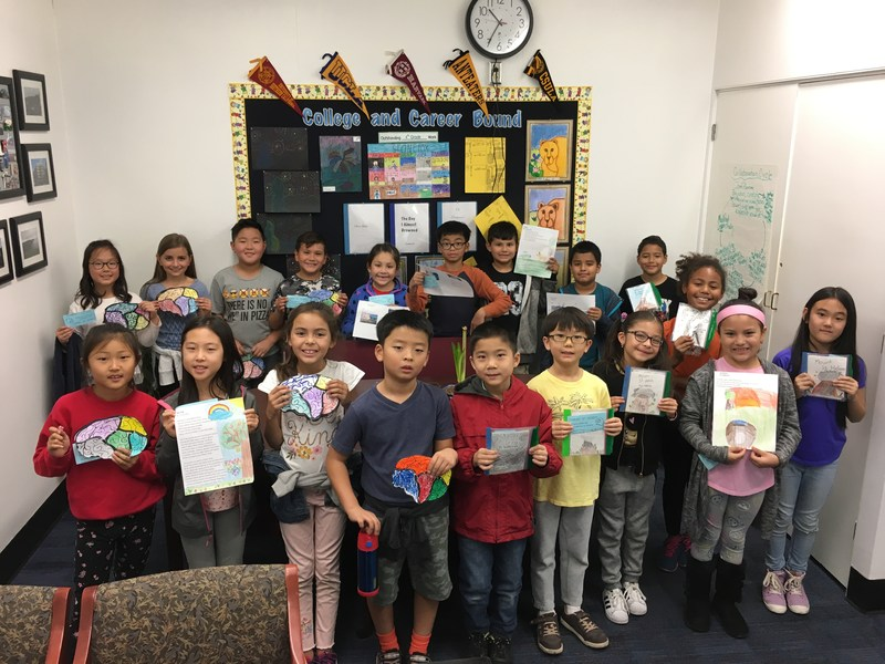 3rd grade students showing their work.