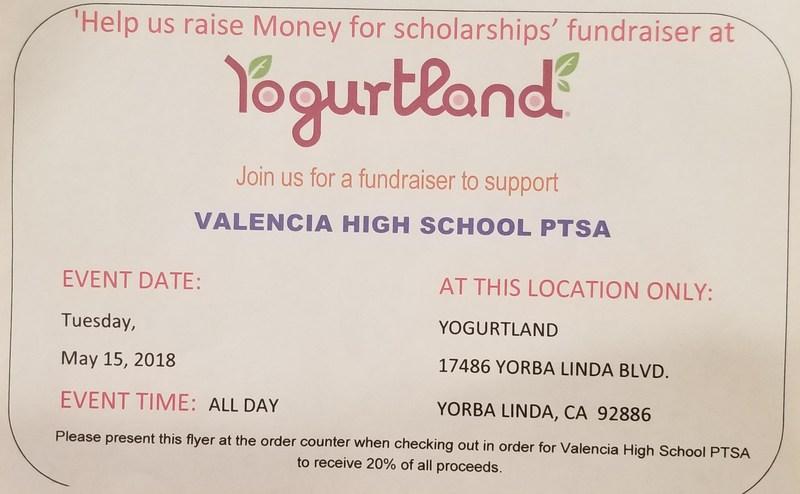 Yogurtland and VHS PTSA partner up for a fun fundraiser! Thumbnail Image