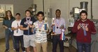 Precision Machine students display their ribbons from Regional Meet