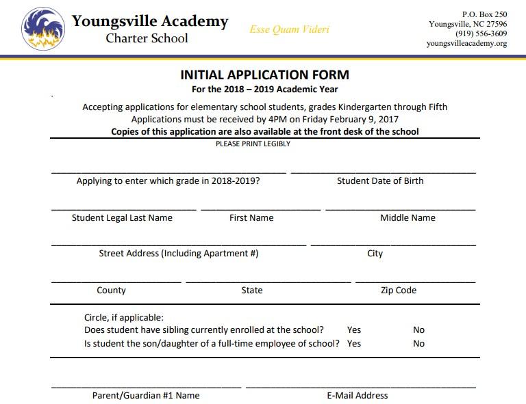 2018-2019 Application