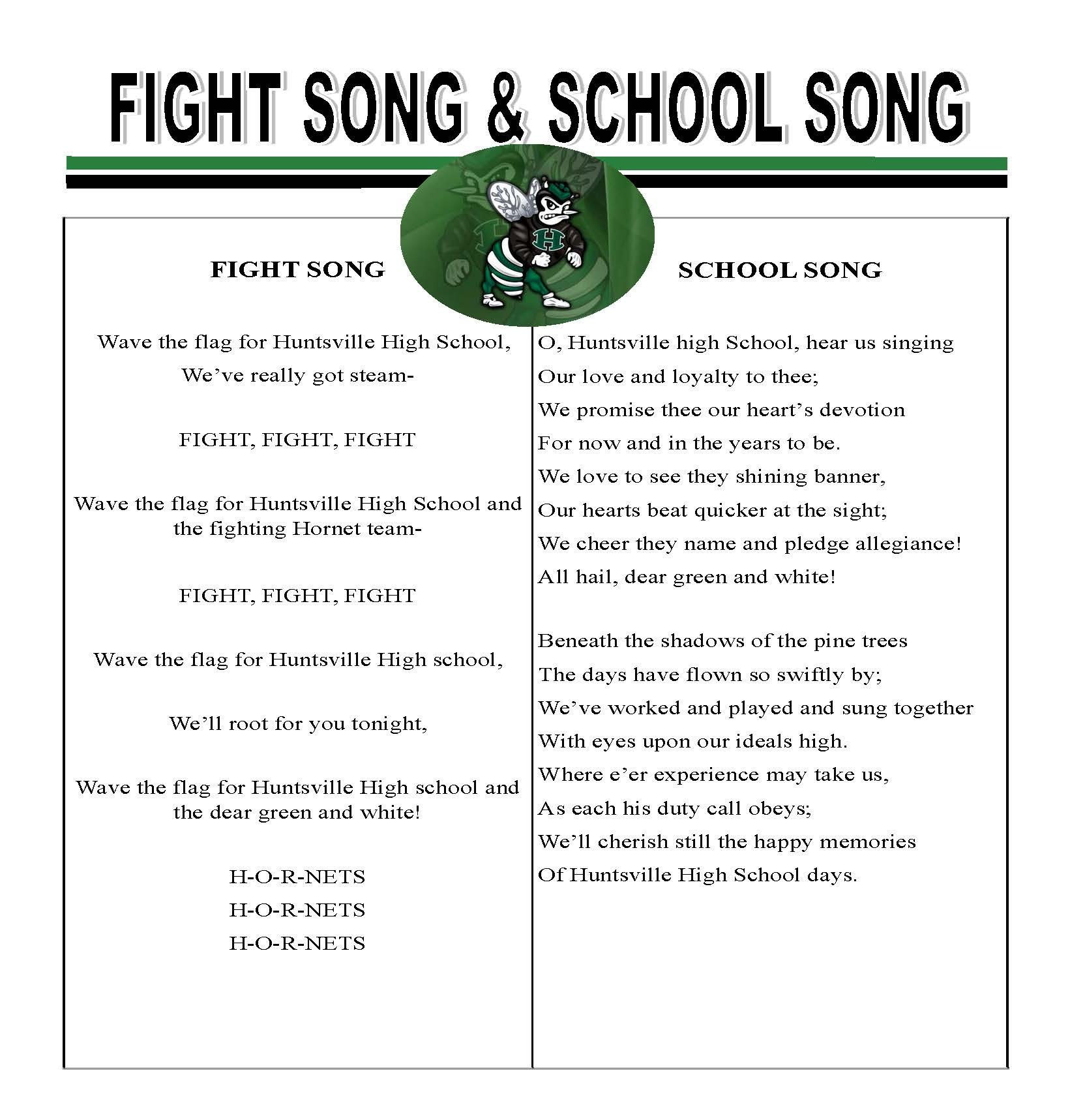 HHS Fight Song/HHS School Song Lyrics