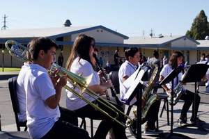 Magnolia School District's Advanced Band performing