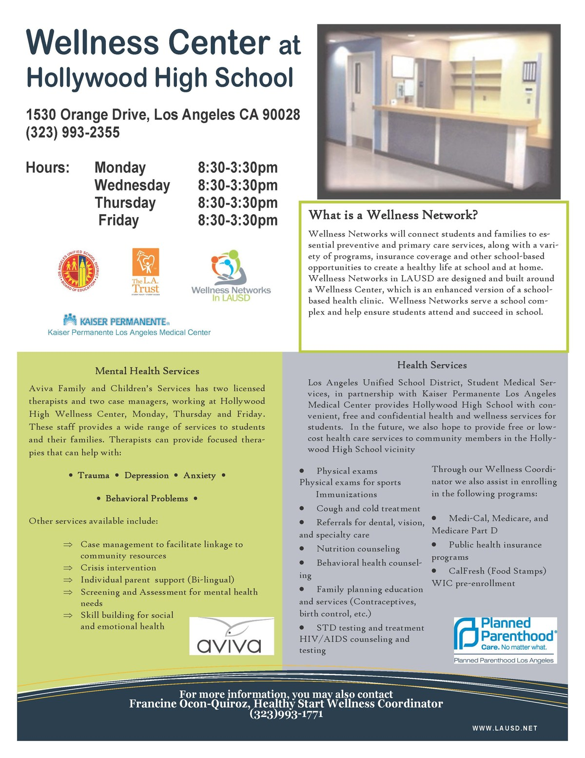 Home Wellness Center Hollywood High School