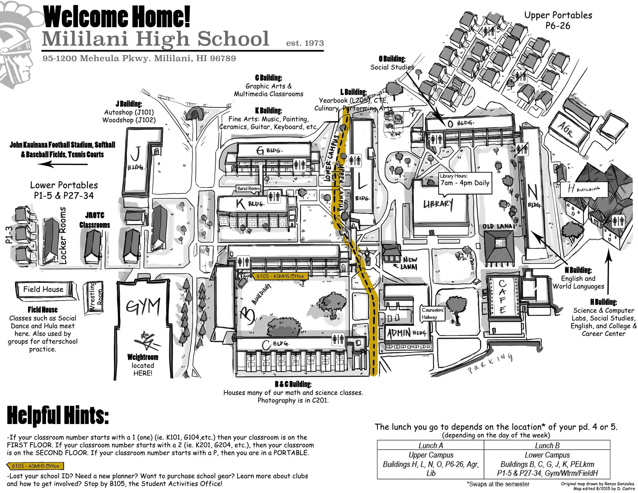 The New School Campus Map.Campus Map School Info Mililani High School