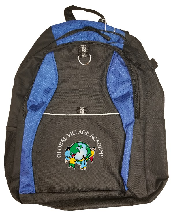 backpack with gva logo on it