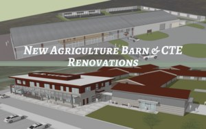 Renderings of new Ag Barn and CTE Facility